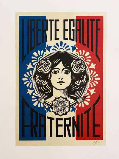 Shepard Fairey - Marianne Liberte