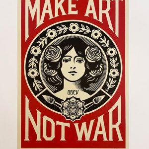 Shepard Fairey - Make art not war