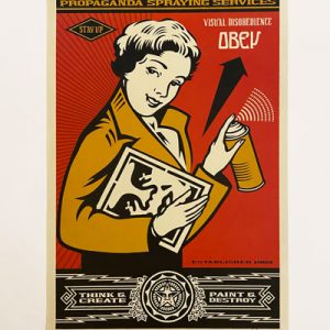 Shepard Fairey - STAY UP GIRL