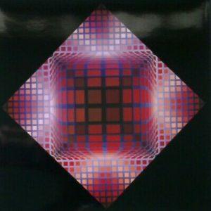 Victor VASARELY- Damier Dell 2 Rare